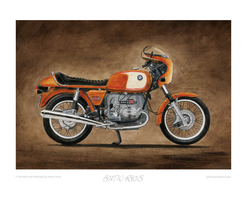 Bmw R90s Motorcycle Art Print By Steve Dunn