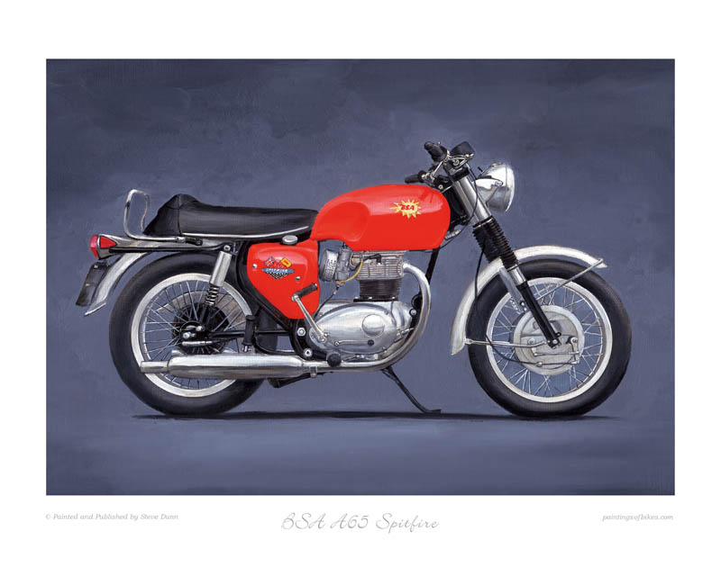 BSA Spitfire motorcycle art print