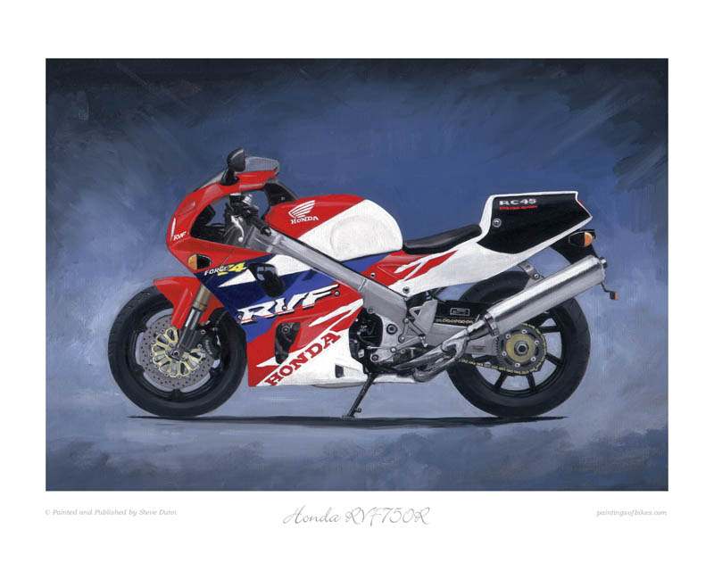Honda RVF750 RC45 art motorcycle art print