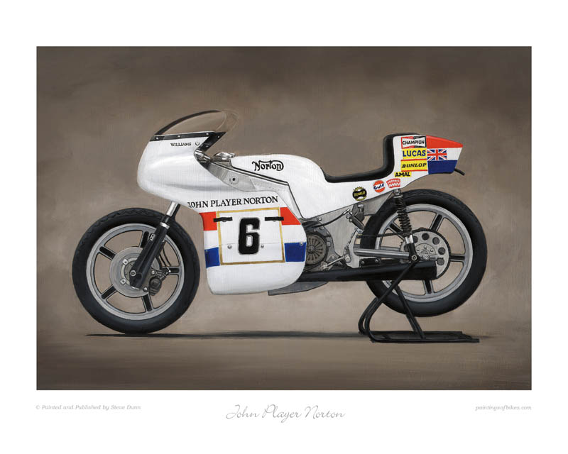 John Player Norton motorcycle art print