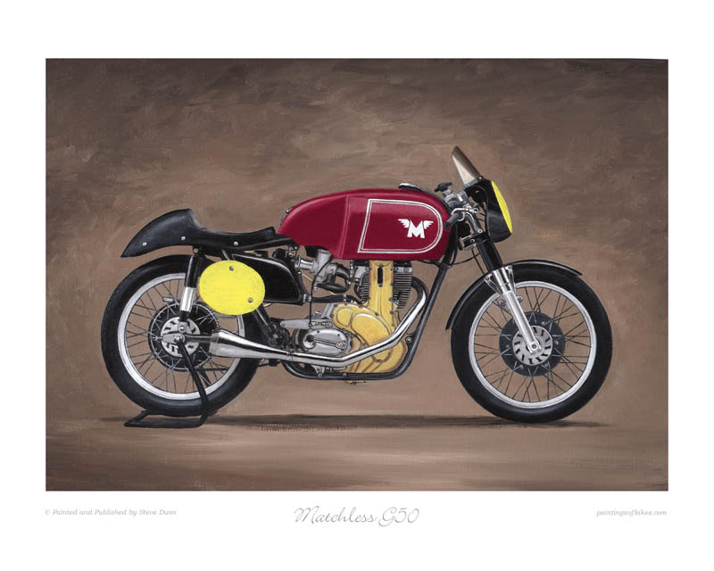 Matchless G50 motorcycle art print