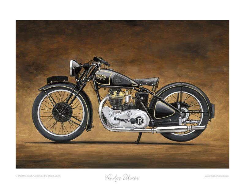 Rudge Ulster Motorcycle Art Print by Steve Dunn