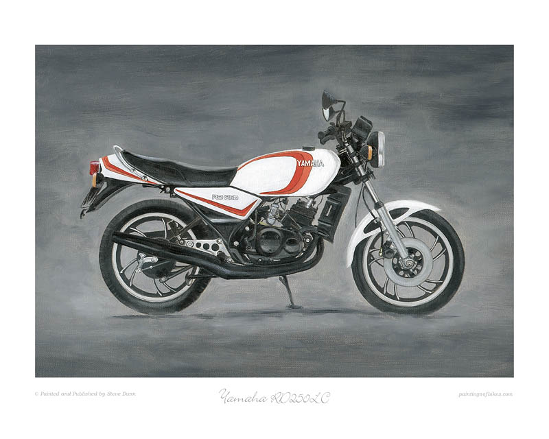 Yamaha RD250LC (red) motorcycle art print