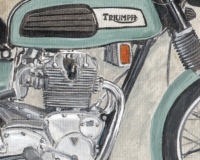 1969 Triumph T150 Trident Motorcycle Limited Edition Print by Steve Dunn